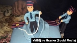 Торт из инстаграма МВД Якутии