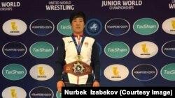 Чемпионка мира по женской борьбе среди юниоров Айпери Медет кызы.