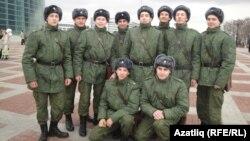 Уфа авиация-техник университетының хәрби кафедрасында укучы курсантлар