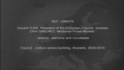 Președintele Consiliului European îl întîmpină pr premierul Gaburici la Bruxelles