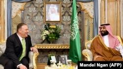 АҚШ Давлат котиби Саудия валиаҳд шаҳзодаси билан.