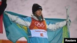 Казахстанская спортсменка Юлия Галышева во время зимней Олимпиады 2018 года в Южной Корее.