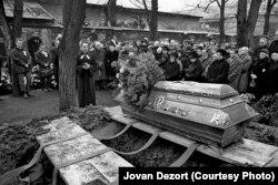 Похороны Яна Палаха на Ольшанском кладбище в Праге