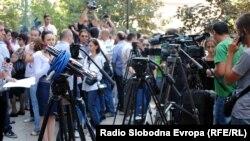 Од протестите на новинарите