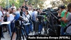 Архивска фотографија: Протест на новинарите.