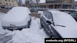 Снег в Минске. 16 января 2012 года. Иллюстративное фото.