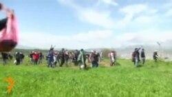 Македония полицияси Греция билан чегарадаги мигрантларга кўздан ëш чиқарувчи газ қўллади