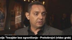 Serbia, Belgrade, Aleksandar Vulin a minister in the Serbian government 25oct2016