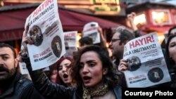 Թուրքիա - «Ոչ»-ի կողմնակիցների բողոքի ակցիան Ստամբուլում, 17-ը ապրիլի, 2017թ.