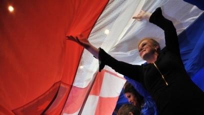 Hrvatska predsjednica u vrijeme predizborne kampanje u bh. gradu Mostaru