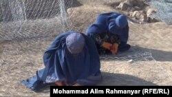 گبیونبافی توسط دفتر حمایت از کودکان به زنان در شبرغان آموزش داده شده است