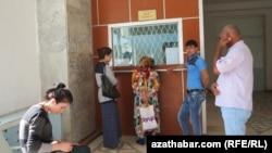 Turkmənistan - Lebap vilayətində dəmiryol stansiyası