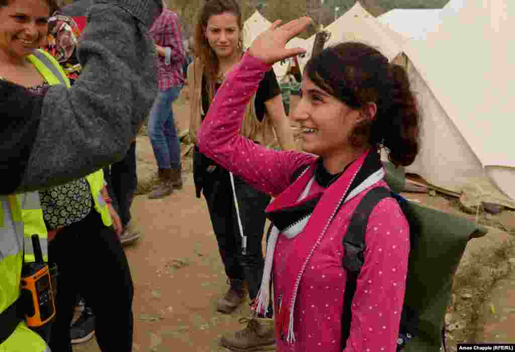 "Thirteen-year-old Raida is now equipped for the onward journey with a bag that is very much her own. For the migrant kids stuck in the makeshift camp, the sense of accomplishment is plain to see. Nagler says ""the kids are really happy when they make something themselves, they feel empowered that they can actually do something and they can have a useful object or product they can carry onwards."""