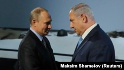 Russian President Vladimir Putin and Israeli Prime Minister Benjamin Netanyahu. File photo