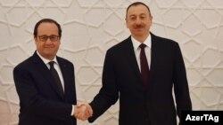 François Hollande və İlham Əliyev