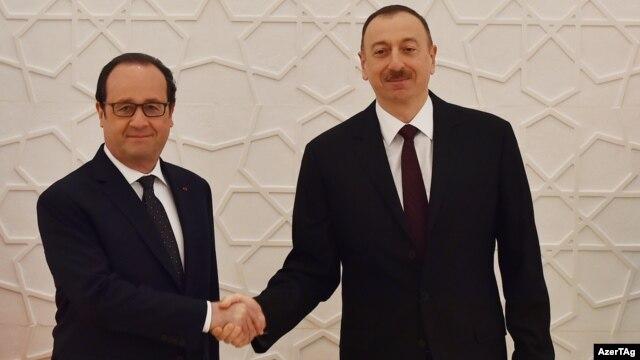 Əliyev və Hollande insan haqlarından danışıblar