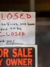 Numeroase afaceri au fost falimentate de pandemia de coronavirus