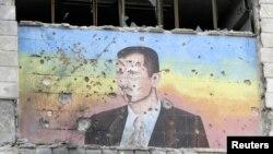 Изображение Башара Асада в роли мишени
