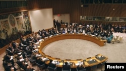 The United Nations Security Council comprises 15 member states, including permanent members Britain, China, France, Russia, and the U.S.