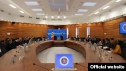 Întrevedere de la ministerul moldovean de externe, Chișinău, 31 ianuarie 2019.