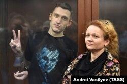 Константин Котов и его адвокат Мария Эйсмонт