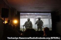 Во время презентации фильма «Крым. Окруженные предательством» в Запорожье
