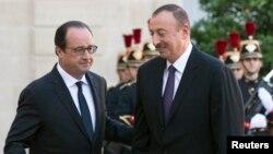F.Hollande və İ.Əliyev