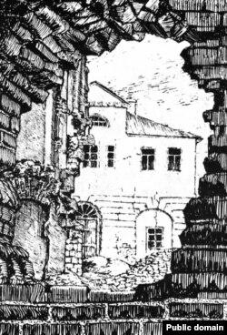 Менскі Трыбунал. Малюнак Язээпа Драздовіча, 1920