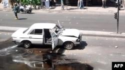 После взрыва в одном из пригородов Дамаска