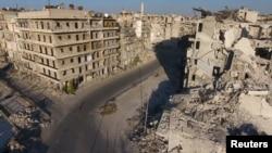 Один из районов Алеппо, удерживаемых оппозицией, 27 сентября 2016