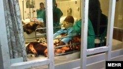 تصویر مخابرهشده خبرگزاری مهر از یکی از حادثهدیدگان آتشسوزی در دبستان شینآباد