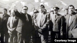 President Emomali Rahmon (center) has been leader of the country since the early days of the 1992-97 civil war.