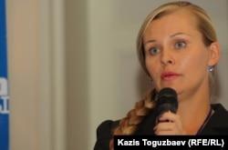 «Құқықтық медиаорталық» ұйымының белсендісі Диана Окремова.
