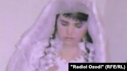 Мафтуна Рахмонова в день свадьбы
