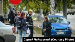 Томск. Уличная агитация за Навального. 2017 г.