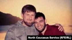 Ибрагим Закриев со своим дядей Рамзаном Кадыровым