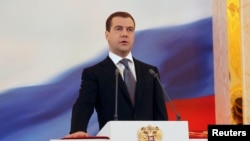 Ish-kryeministri rus, Dmitry Medvedev. Fotografi nga arkivi.
