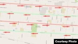 С 15 октября на 4 центральных улицах Бишкека будет введено одностороннее движение.