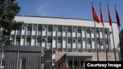 Здание министерства иностранных дел Кыргызстана в Бишкеке.