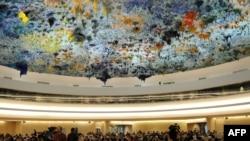 نمایی از نشست شورای حقوق بشر سازمان ملل در ژنو
