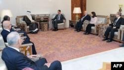 Средбата меѓу сирискиот претседател Башар ал Асад со министрите