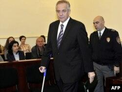 Ivo Sanader u sudnici, studeni 2011.