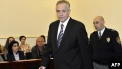 Ivo Sanader u sudnici u procesu Hypo banka, 3.novembar 2011.