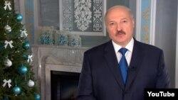 Аляксандар Лукашэнка падчас навагодняга звароту 2015 году