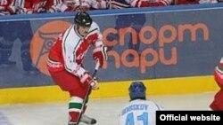 Президент Белоруссии в финальном матче VI Рождественского международного турнира любителей хоккея на приз самого себя