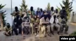 Сирияға Орталық Азиядан барған содырлар деп жарияланған видеодан алынған скришот. (Көрнекі сурет)