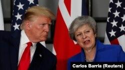 Дональд Трамп и Тереза Мэй.