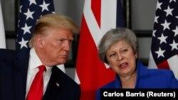 Тереза Мей на спільній прес-конференції з президентом США Дональдом Трампом. Лондон, 4 червня 2019 року