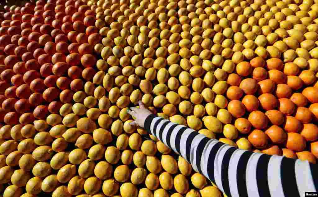 Festivalul lămâilor din Menton, Franţa, la a 80-a ediţie.