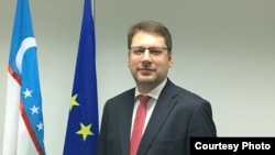 Eduards Stiprais, the head of EU delegation in Uzbekistan. (file photo)